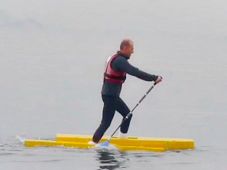 Водные лыжи своими руками видео