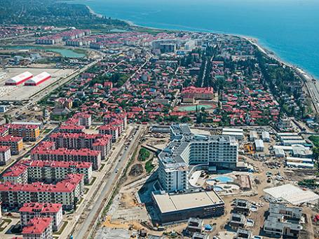 Вид на Олимпийский парк в Сочи. Фото: РИА Новости
