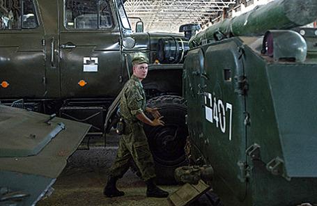 На территории четвертой военной базы РФ, Цхинвал, Южная Осетия.