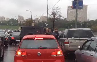 Автомобилист избит в центре Москвы
