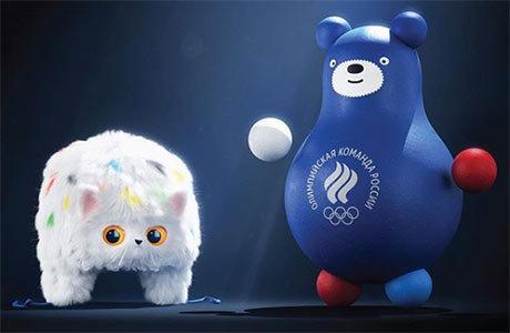 Кот-ушанка и медведь-неваляшка: студия Лебедева разработала талисманы олимпийской сборной России