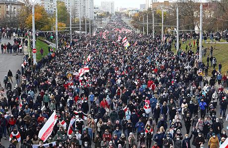 В Минске — марш протеста оппозиции