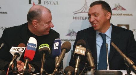 Владимир Потанин и Олег Дерипаска заморозили свой конфликт. Фото: Павел Смертин,