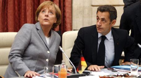 Президент Франции Николя Саркози и канцлер Германии Ангела Меркель в ходе встречи в Париже выработали план выхода из тупика. Фото: REUTERS