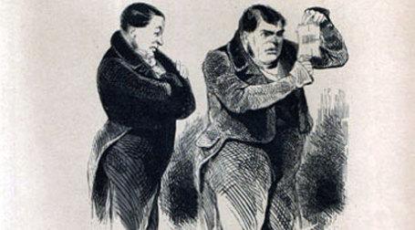 Уловки банков не остались незамеченными. Иллюстрация А. А. Агина к книге Н. В. Гоголя