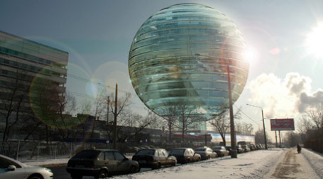 Проект здания медиацентра НТВ (вид с ул. Новомосковская). Фото: mosma.ru