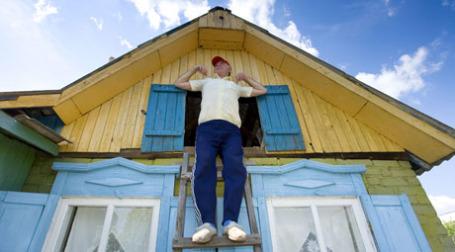 Отдых на территории собственного дома. Фото: ИТАР-ТАСС