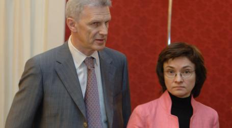 Андрей Фурсенко и Эльвира Набиуллина. Фото: ИТАР-ТАСС