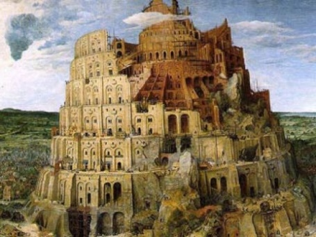 Вавилонская башня. Картина Питера Брейгеля