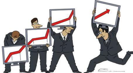 Индексы растут. Карикатура: РИА Новости