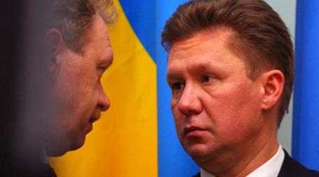 Олег Дубина и Алексей Миллер. Фото: AFP