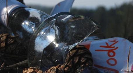 Разбитая бутылка водки. Фото: chrisroe101/flickr.com
