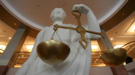Статуя Фемиды в Московском городском суде. Фото: РИА НОВОСТИ