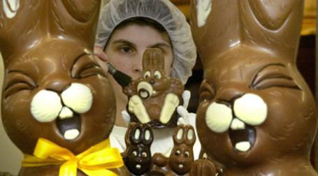 Спрос на шоколадных зайцев тает с каждым месяцем. Фото: AFP