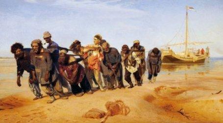 Илья Репин. Бурлаки на волге. Холст, масло. 1870-1873