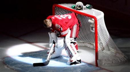 Вратарь сборной НХЛ Phoenix Coyotes Илья Брызгалов. Фото: AFP