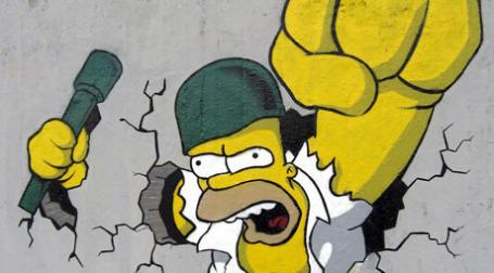 Граффити Гомер Симпсон. Фото: duncan c/flickr.com