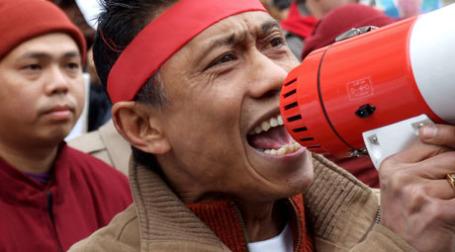 Китаец с мегафоном. Фото: lewishamdreamer/flickr.com