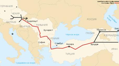 Проект Nabucco. Иллюстрация: wikipedia.org