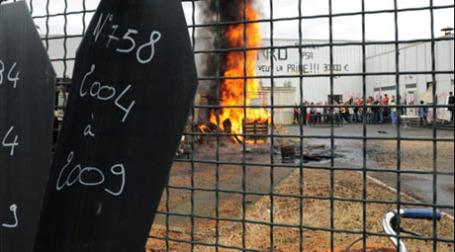 Забастовка на заводе New Fabris, Франция. Фото: AFP