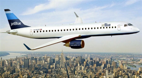 Самолет авиакомпании JetBlue Airways. Фото: AFP