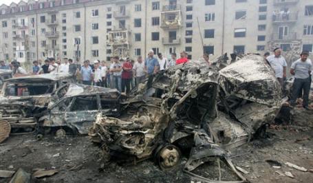 Теракт в Назрани. Фото: AFP
