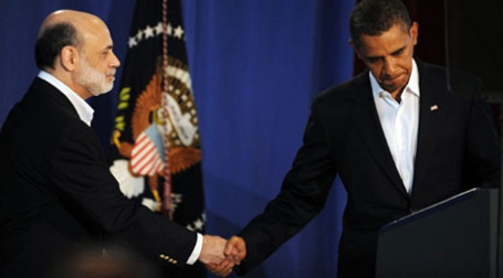 Барак Обама пожелал снова видеть Бена Бернанке во главе ФРС. Фото: AFP