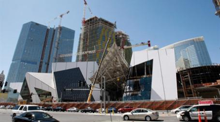 Строительство комплекса CityCenter в Лас-Вегасе. Фото: AFP