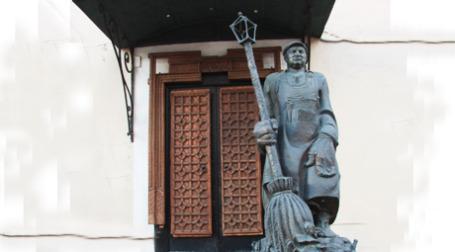 Памятник Юрию Лужкову в Музее современного искусства в Москве. Фото: Евгения Мангутова/BFM.ru