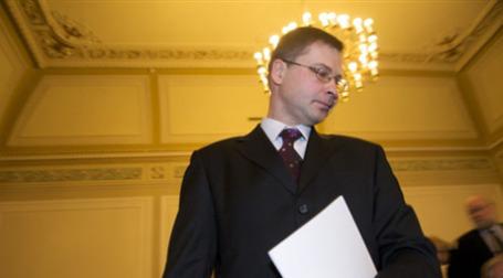 Премьер-министр Латвии Валдис Домбровскис. Фото: AFP