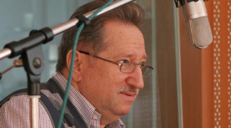 Михаил Бергер в студии радиостанции Business FM. Фото: Наталья Гребенюк/BFM.ru