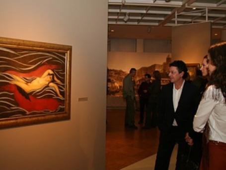Выставка Ладо Гудиашвили в Третьяковской галерее. Фото: Анна Ляленко/BFM.ru