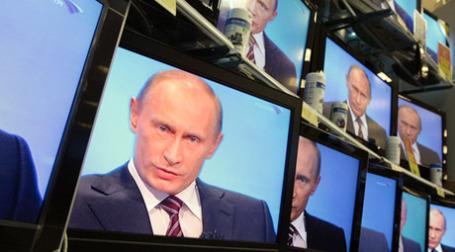 Прямая линия с премьер-министром Владимиром Путиным. Фото: РИА Новости