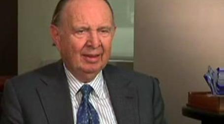 Снимок экрана с записью интервью Henry Kaufman на сайте hk.video.yahoo.com.