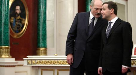 Дмитрий Медведев и Александр Лукашенко в Кремле. Фото: РИА Новости