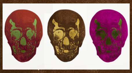 Дэмиен Херст Из серии «Мертвые», двухцветная фольга, печать на бумаге, 2009