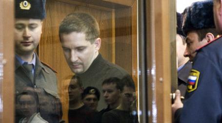 Денис Евсюков в зале суда. Фото: ИТАР-ТАСС