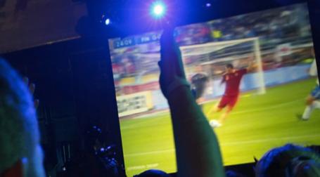 Трансляция футбола. Фото: РИА Новости