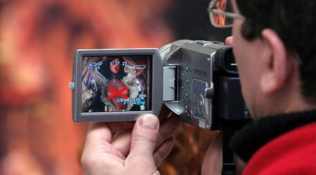 Порно ролик на экране дороги