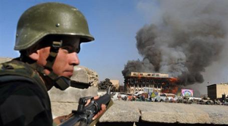 Вооруженные действия в центре Кабула. Фото: AFP