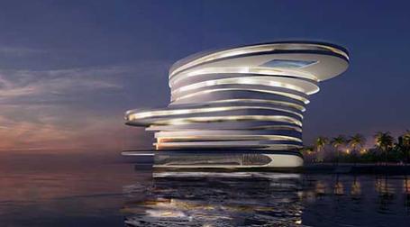 Проект дубайский Helix Hotel в Абу-Дуби. Фото: Leeser Architecture