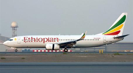 Boeing 737 государственной авиакомпании Ethiopian Airlines до аварии. Фото: AFP