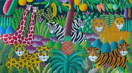Полотна гаитянских художников высоко ценились на американском рынке искусства. На фото: Haiti Art Project/Vassar College Media Relations