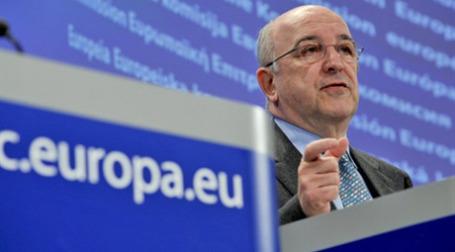 Хоакин Альмуния на заседании Еврокомиссии в Брюсселе. Фото: AFP