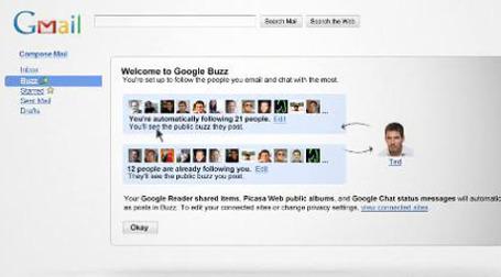 Компания Google объявила о запуске новой социальной сети Buzz, которая интегрирована в почтовый сервис Gmail. Фото: walyou.com
