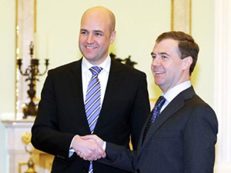 Президент России Дмитрий Медведев и премьер Швеции Фредрик  Рейнфельдт подписали ряд межправительственных соглашений. Фото: РИА Новости
