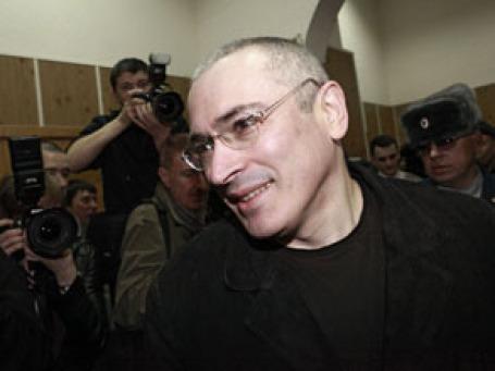 Экс-глава «ЮКОСа» Михаил Ходорковский в зале судебных заседаний Хамовнического суда Москвы. Фото: РИА Новости
