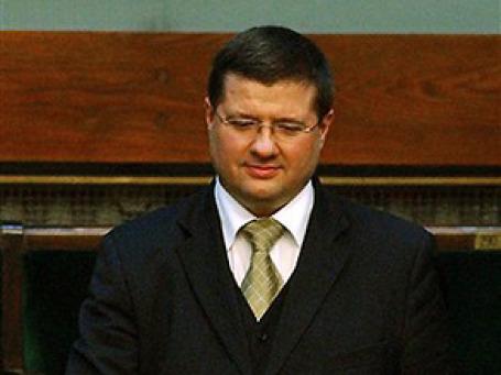 Славомир Скржипек в польском Центральном банке в Варшаве. Фото: AP