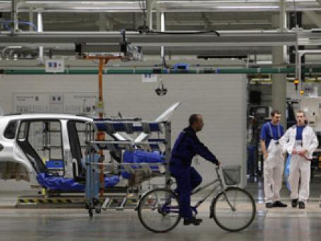 Калужский завод Фольксваген начинает производство автомобиля Skoda Fabia. Фото: РИА Новости