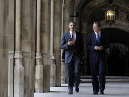 Дэвид Кэмерон на встрече с Бараком Обамой. Фото: AP